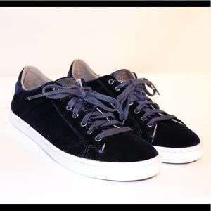 Cole Haans Blue Velvet Sneaker with Gold Charm